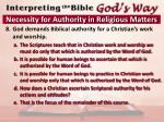 necessity for authority in religious matters7