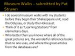 museum walks submitted by pat strawn