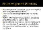 poster assignment directions