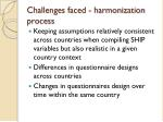 challenges faced harmonization process