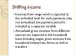 shiping income
