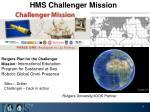 hms challenger mission