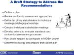 a draft strategy to address the recommendations