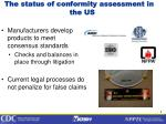 the status of conformity assessment in the us1