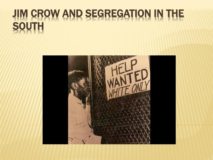jim crow and segregation in the south n.