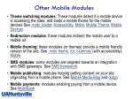 other mobile modules