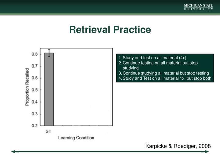Retrieval Practice