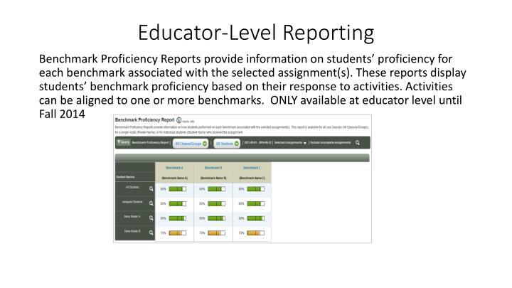 Educator-Level Reporting
