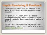 haptic rendering feedback