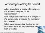 advantages of digital sound