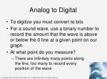 analog to digital