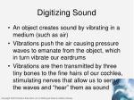 digitizing sound