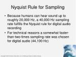 nyquist rule for sampling1