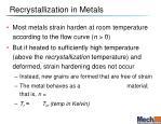 recrystallization in metals