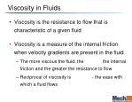 viscosity in fluids