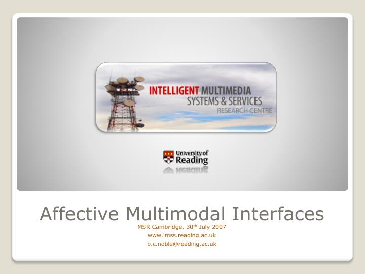 affective multimodal interfaces n.