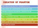 creation of phantom