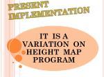 present implementation