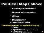 political maps show