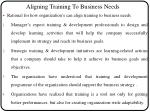 aligning training to business needs
