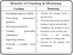 benefits of coaching mentoring