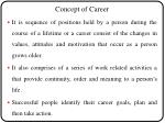 concept of career