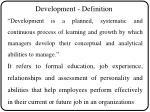 development definition