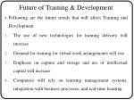 future of training development