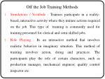 off the job training methods1