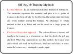 off the job training methods2