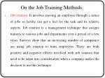 on the job training methods1