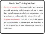 on the job training methods2