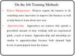 on the job training methods3