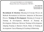 punjab technical university human recourse management mb 203
