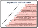 steps of induction orientation