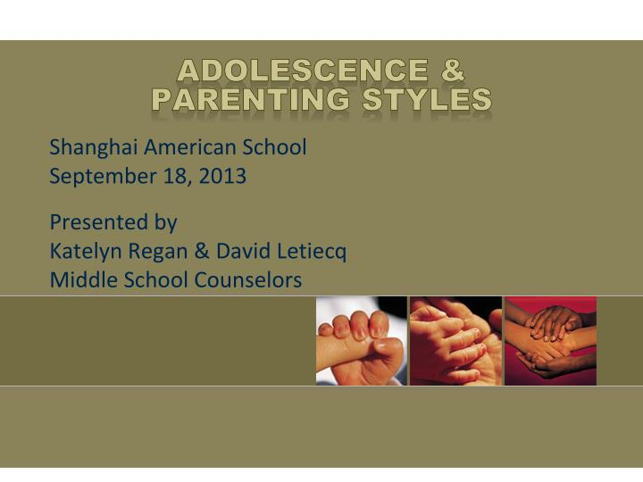 adolescence parenting styles n.