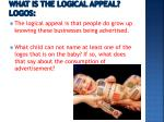 what is the logical appeal logos