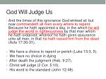 god will judge us