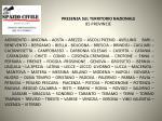 presenza sul territorio nazionale 85 provincie