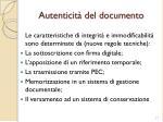 autenticit del documento