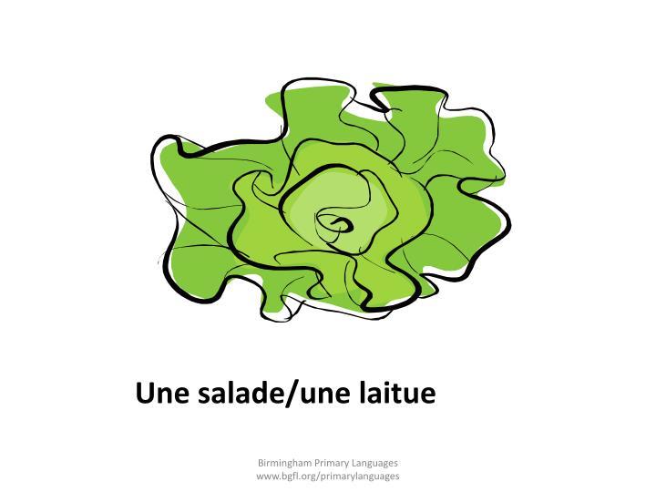 Une salade/une laitue