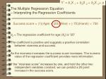 the multiple regression equation interpreting the regression coefficients1