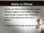 ability to diffuse