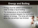 energy and boiling