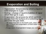 evaporation and boiling