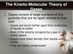 the kinetic molecular theory of gases1
