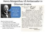 henry morgenthau us ambassador in ottoman empire