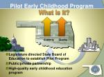 pilot early childhood program