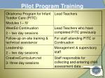 pilot program training