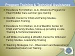 program training technical assistance